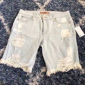 Joe's Jeans distressed Bermuda shorts NWT 29
